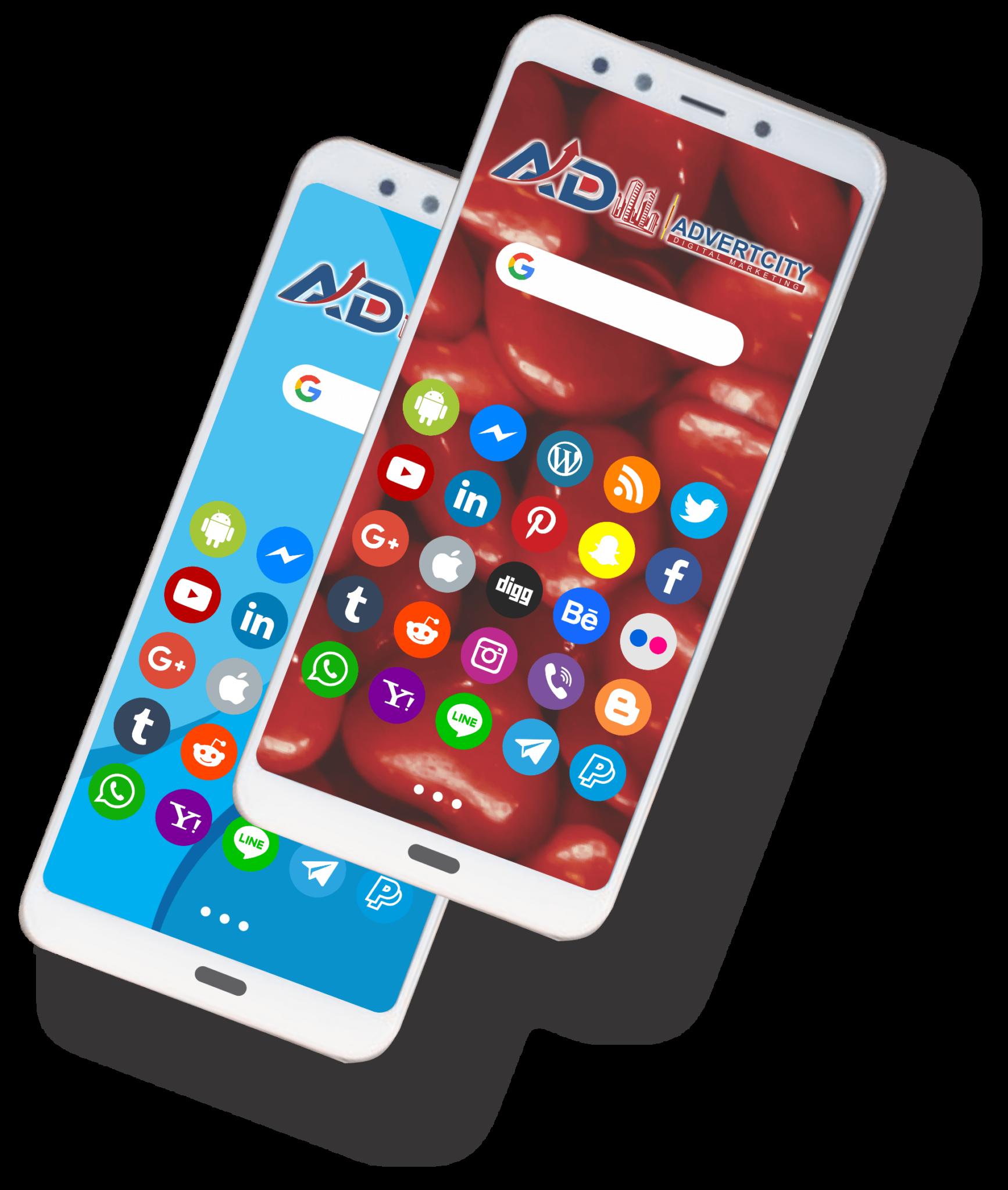 mobile logo advert AdvertCity